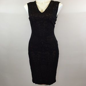 Cache Black Lace Sleeveless Cocktail Dress 4